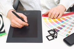 Graphic designer at work Stock Photography