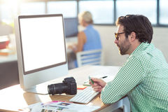 Graphic designer working on computer Royalty Free Stock Images