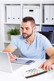 Graphic designer working on digital tablet Royalty Free Stock Images