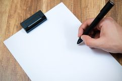 Graphic designer working with modern digitized pen Royalty Free Stock Photography