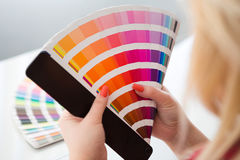 Graphic designer working with palette Stock Photography