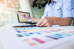 Graphic designers meeting Royalty Free Stock Photography