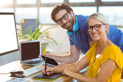 Graphic designers smiling in office Royalty Free Stock Image