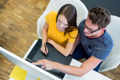 Graphic designers working at desk Royalty Free Stock Photography