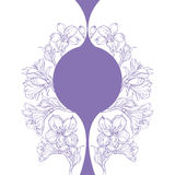 Graphic drawing of orchid flower. Vector illustration Royalty Free Stock Images