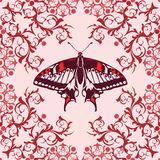 Graphic element with butterfly Royalty Free Stock Photo