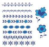 Graphic element delft blue border Stock Photo