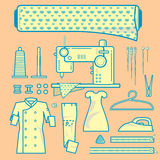 Graphic element of fabric needleworks Stock Images