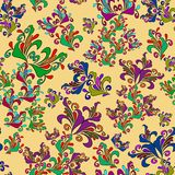 Graphic element. Floral seamless texture. Royalty Free Stock Photography