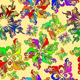 Graphic element. Floral seamless texture. Stock Image