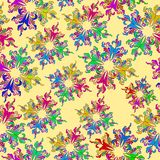 Graphic element. Floral seamless texture. Royalty Free Stock Photos