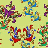 Graphic element. Floral seamless texture. Royalty Free Stock Images