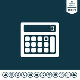 Calculator symbol icon. Graphic element for your design Royalty Free Stock Photos