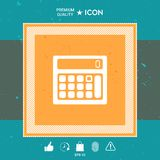 Calculator symbol icon. Graphic element for your design Royalty Free Stock Photography