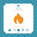 Fire, flame icon. Graphic element for your design Royalty Free Stock Image