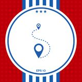 Location symbol Icon. Graphic element for your design Royalty Free Stock Image
