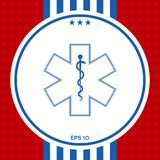 Medical symbol of the Emergency - Star of Life icon. Graphic element for your design Stock Photos