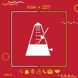 Metronome symbol icon Stock Image