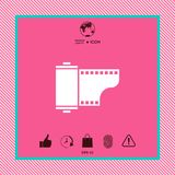 Photographic film cassette icon. Graphic element for your design Stock Photography