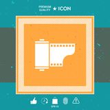 Photographic film cassette icon. Graphic element for your design Royalty Free Stock Photo