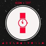 Wristwatch icon. Graphic element for your design Stock Photos