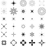 Graphic elements. Lots of black intricate graphic elements Stock Photo