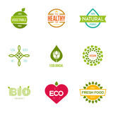 Graphic elements editable for design with fresh, nature, organic products. Logo inspiration for shops, companies, advertising or other business. Vector vector illustration