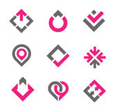 Graphic elements and icon Stock Images