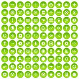 100 graphic elements icons set green circle Stock Images