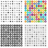 100 graphic elements icons set variant. 100 graphic elements icons set in 4 variant for any web design isolated on white vector illustration