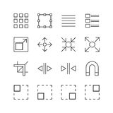 Graphic Elements Icons - Vector illustration , Line icons set Stock Image