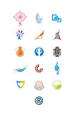 Graphic elements for logo 3. Vector elements for using in design and logo making Stock Photos