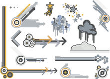 Graphic Elements Metals Stock Photography
