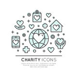 Graphic Elements for Nonprofit Organizations and Donation Centre Royalty Free Stock Photos