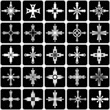Graphic elements set. Crosses design. Stock Photos