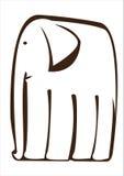 Graphic  elephant isolated on white Stock Image