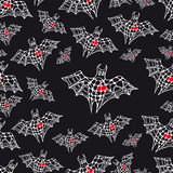 Graphic endless pattern with bat Royalty Free Stock Photography