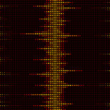 Graphic equalizer. Pixel illustration inspired by a graphic equalizer Stock Photography