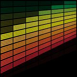 Graphic Equalizer. Abstract Background - illustration of Equalizer on Black Background / Vector Stock Photography