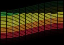 Graphic Equalizer. Multicolored Blocks on Black Background / Vector vector illustration