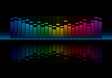 Graphic Equalizer. Coloful Graphic Equalizer Display (editable vector Royalty Free Stock Photography