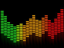 Graphic Equalizer Stock Photography