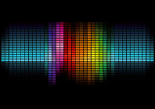 Graphic equalizer. Illustration of colorful graphic equalizer display with black background Royalty Free Stock Photos