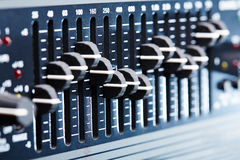 Graphic equalizer Stock Image