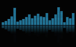 Graphic equalizer. Graphic equalizer in blue background, music concept Royalty Free Stock Photos