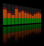 Graphic Equalizer. An illustrated background showing a digital graphic equalizer Royalty Free Stock Photo
