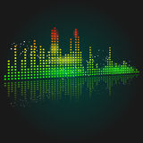 Graphic Equalizer. Abstract vector of a graphic equalizer Stock Image