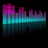 Graphic Equalizer. Abstract Vector illustration of a graphic Equalizer Stock Photography