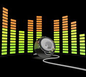 Graphic Equalizer Shows Pop Music Or Audio Speaker Royalty Free Stock Image