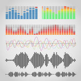 Graphic equalizer types Royalty Free Stock Photos